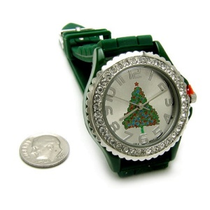 christmas watch 097 08 lg rubber christmas tree green
