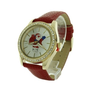 christmas watch 165a 08 santa claus crystal red gold