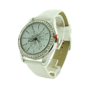 christmas watch 177a 08 snowflake crystal white silver