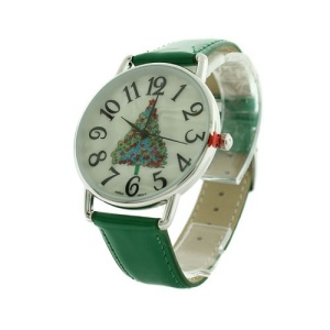 christmas watch 179a 08 tree green silver