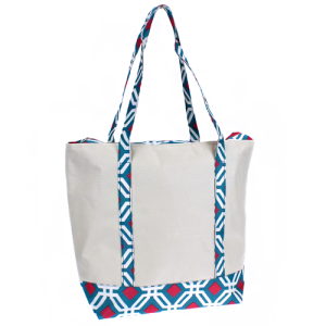 ck MCB 709 geometric cooler bag turquoise fuchsia