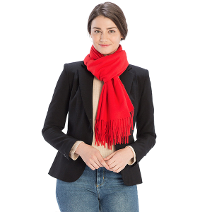 Scarf 518 08 Fadivo solid infinity scarf red