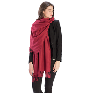 Scarf 522 08 Fadivo solid infinity scarf wine