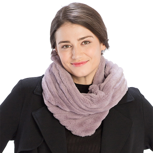 Scarf 544 08 Fadivo ribbed infinity scarf Puirple