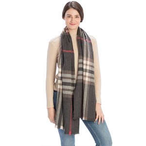 Scarf 553 08 Fadivo plaid scarf black