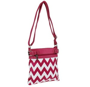 cs g 604 sv chevron crossbody fuchsia white