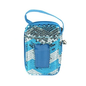 cs lusq 49 sv chevron sequin wallet silver light turquoise