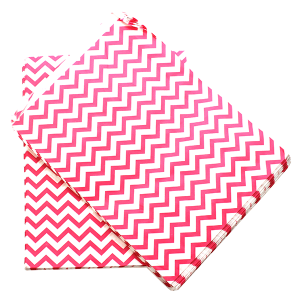 display 8.5X11 jewelry paper bag chevron pink