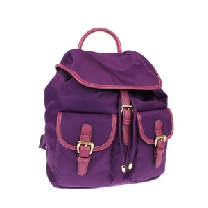fdc L 0011 nylon backpack lavender purple