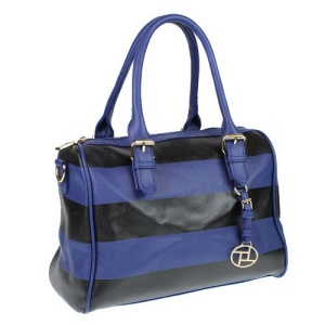 fdc n0029 st nv satchel handbag stripe navy black