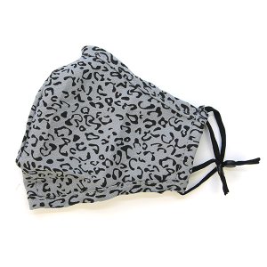 Face Mask 211 Cotton Mask Leopard Gray