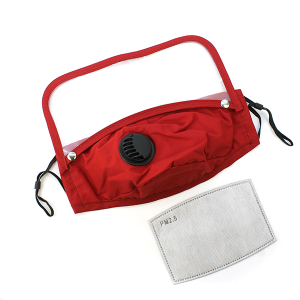 Face Mask 382 Vent Mask Detachable Shield with filter red