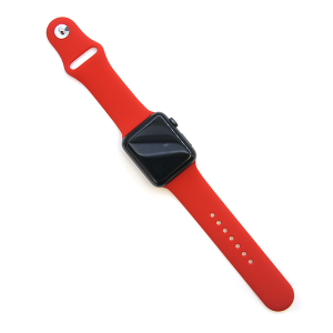 Watch Band 088 Fashion Watch Band rubber silicone 42mm 44mm red