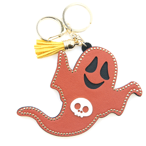 Keychain 032a GG ghost halloween keychain brown