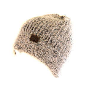 Winter CC Beanie 296 soft hairy knit beanie rose