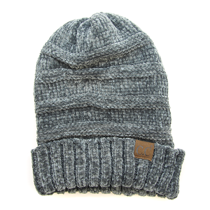 Winter CC Beanie 103e Soft Ribbed Beanie dark melange gray