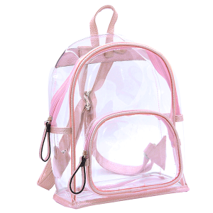 Wholesale Clear See-Through Fashion Backpack in Pink