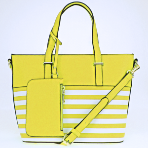 ih 87095 handbag nautical stripe yellow
