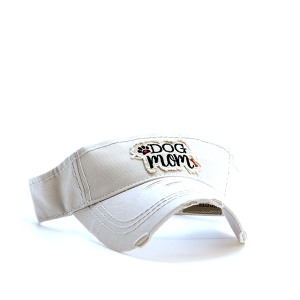 Cap 017n 30 KBEthos dog mom visor khaki