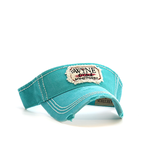 Cap 044c 30 KBEthos visor its wine oclock somewhere turquoise