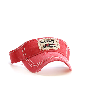 Cap 021v 30 KBEthos visor its wine oclock somewhere coral
