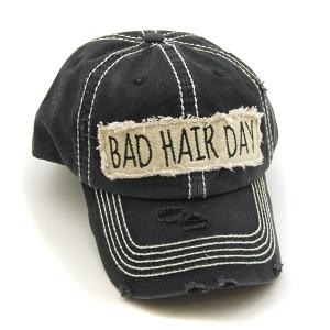 Cap 309b 30 KBEthos bad hair day hat black