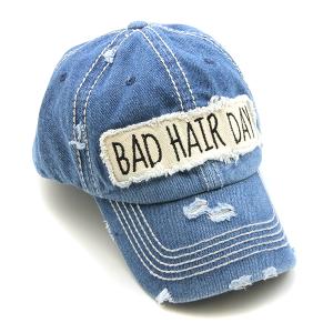 Cap 290b 30 KBEthos bad hair day hat denim