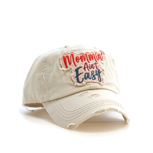 Cap 109e 30 KBEthos Mommin aint easy distressed hat khaki