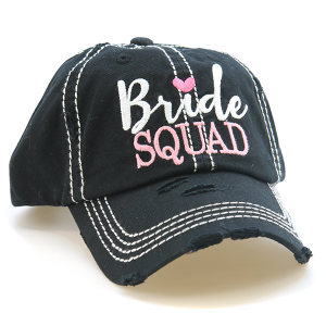 Cap 010r 30 KBEthos bride squad distressed hat black