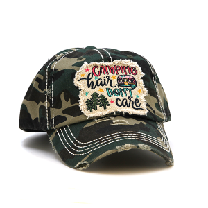 Cap 038v 30 KBEthos Camping Hair Don't Care Green Camo