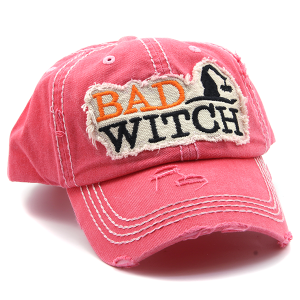 Cap 030v 30 KBEthos Bad Witch Halloween Hat Pink