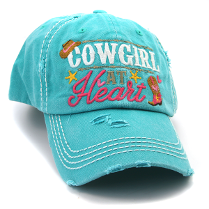 Cap 173a 30 KBEthos Cowgirl at Heart hat turquoise
