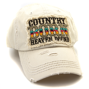 Cap 164e 30 KBEthos Country Born Heaven Bound hat khaki
