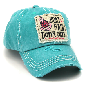 Cap 098b 30 KBEthos distressed hat boat hair dont care turquoise