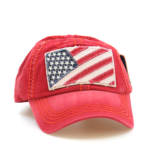 Cap 259a 30 KBEthos USA American Flag Hat red