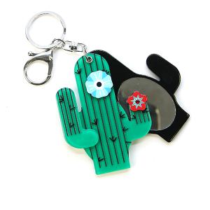 Keychain 023b sliding mirror keychain cactus