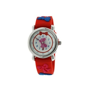 kids watch 896 08 3334 rubber ribbon red