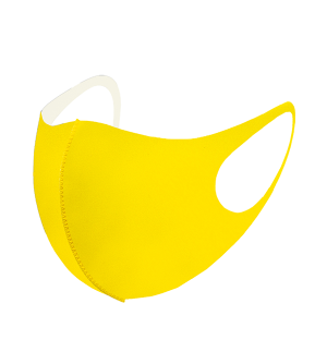 Face Mask 071a Solid Yellow Mask