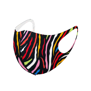 Face Mask 018a zebra multicolor
