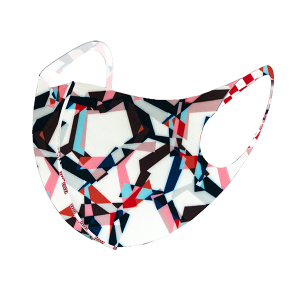 Face Mask 025a abstract ivory multicolor