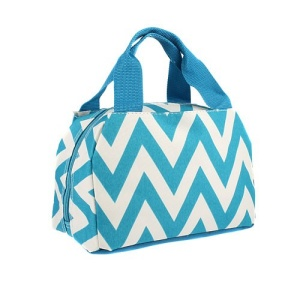 luggage 8010 lunch box chevron turquoise