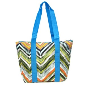 luggage AK lunch bag C15 1503 zigzag blue trim