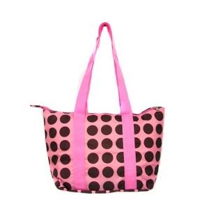 luggage AK lunch bag C15 polka dots pink brown 807