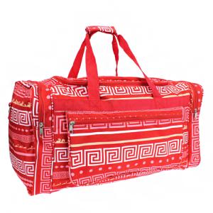 luggage D22 16 duffle bag greek key coral pink