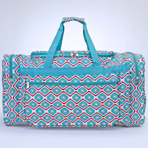 luggage D22 18 duffle bag geometric aztec turquoise red white