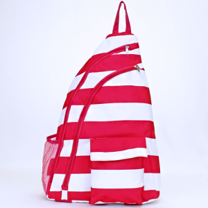 luggage ak NBB 23 shoulder bag nautical stripe fuchsia white