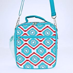 luggage ak NCC17 18 long lunch box geometric aztec turquoise red white