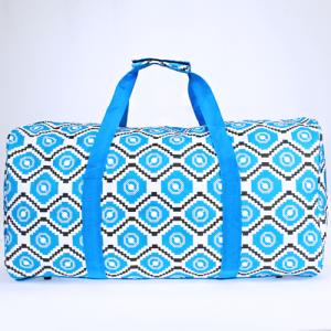 luggage ak NDN 22 TG round duffle bag geometric aztec light blue gray white