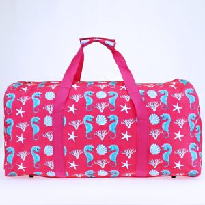 luggage ak NDN 32 round duffle bag sea horse fuchsia turquoise