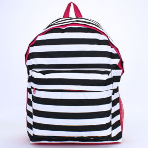 luggage ak backpack b 8 23 nautical stripe black white fuchsia